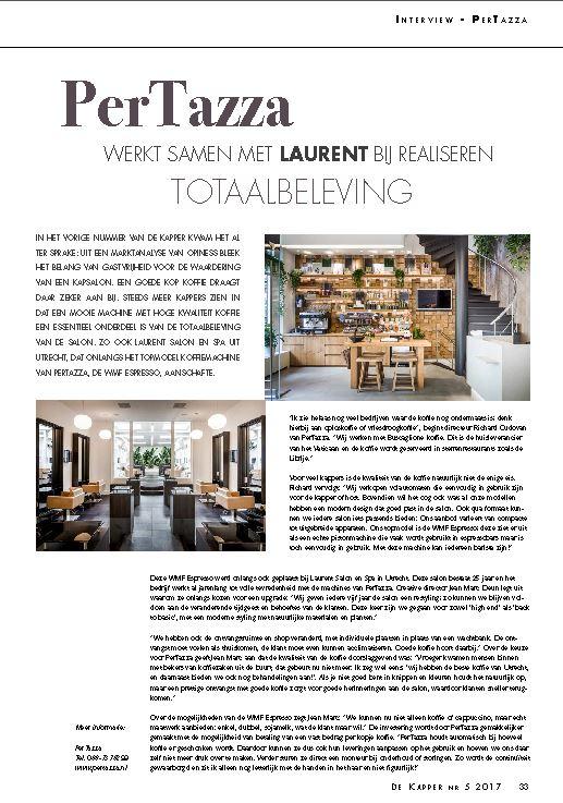 Buscaglione koffie bij Laurent Salon & Spa
